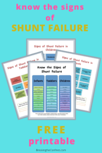 Do you know what signs to look for in shunt failure? Does your child's caregiver? Discover what those signs are and get a free printable to hand out to anyone who looks after your child.